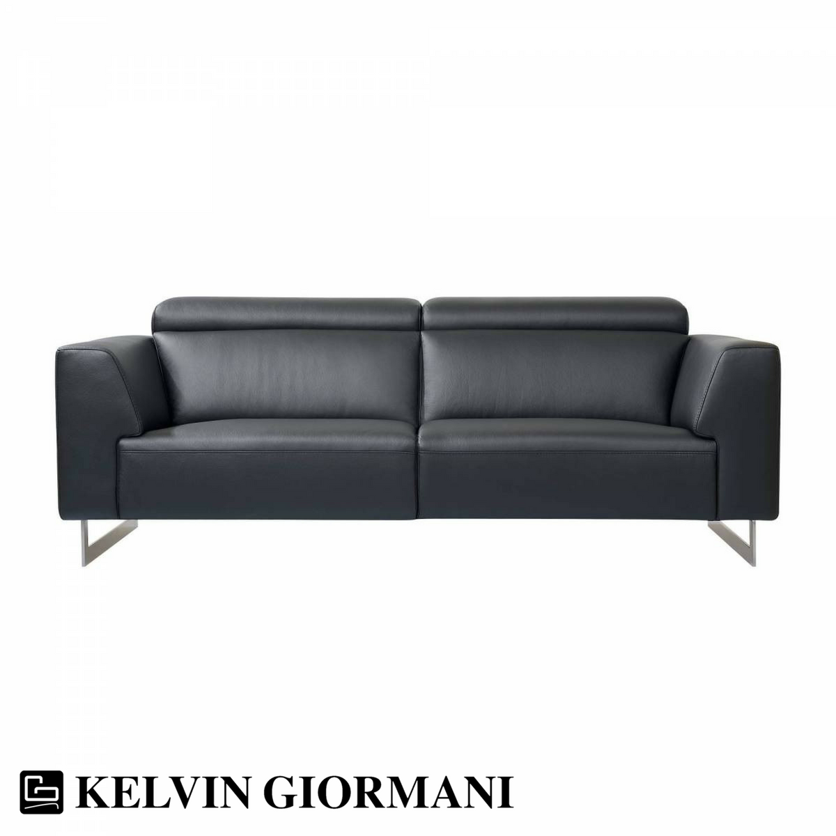 Best Leather Sofas In Singapore: Napola Black Leather Sofa By Kelvin Giormani