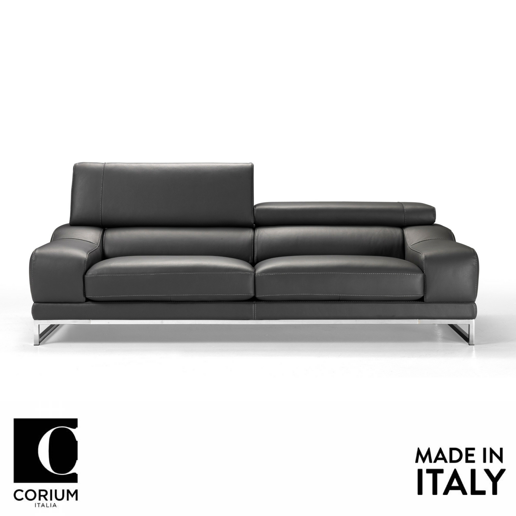 Losanna Italian Leather Sofa By Corium Italia