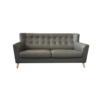 Lance Leather 3-Seater Sofa
