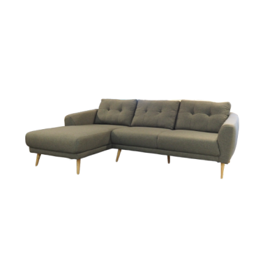 Marisa 2.4m L- Shaped Fabric Sofa