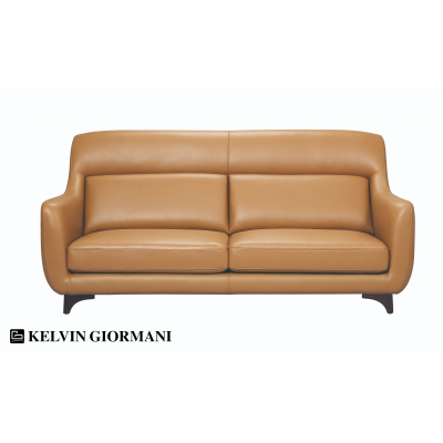 Riccio Full Leather 3-Seater Sofa