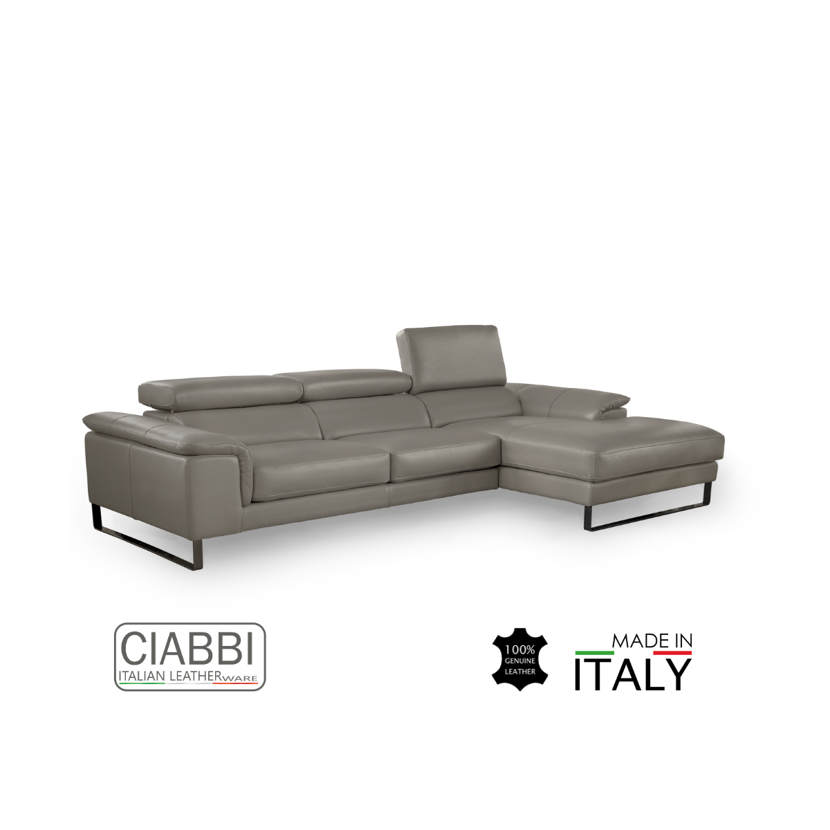 Ettore Full Leather L-shape Sofa