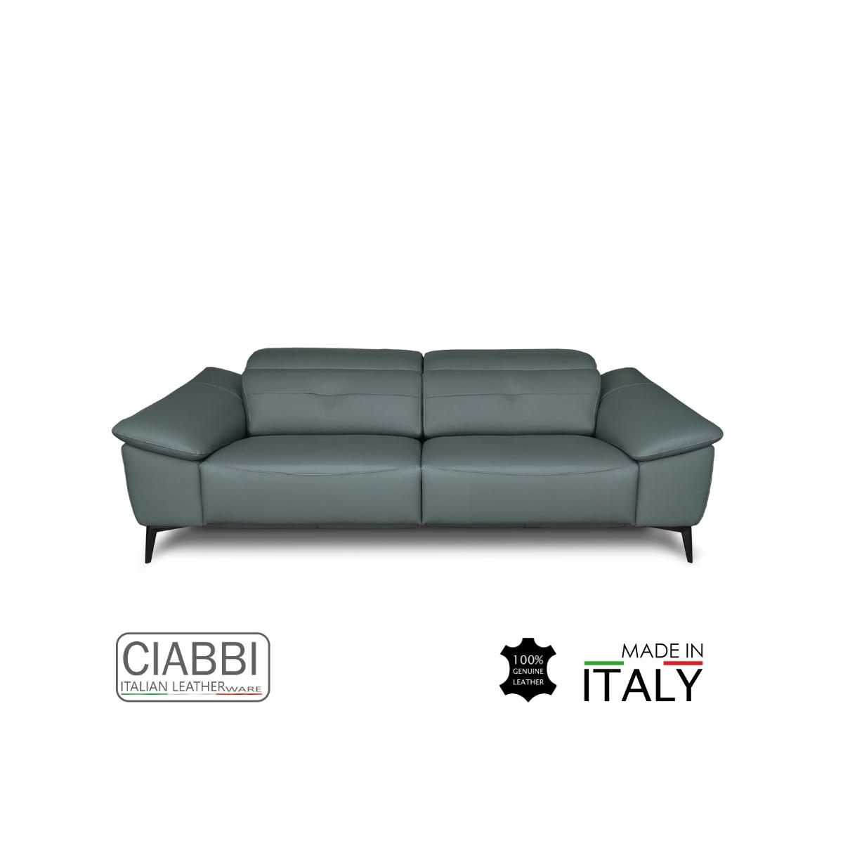 Iago Full Leather 3.5 Seater Sofa